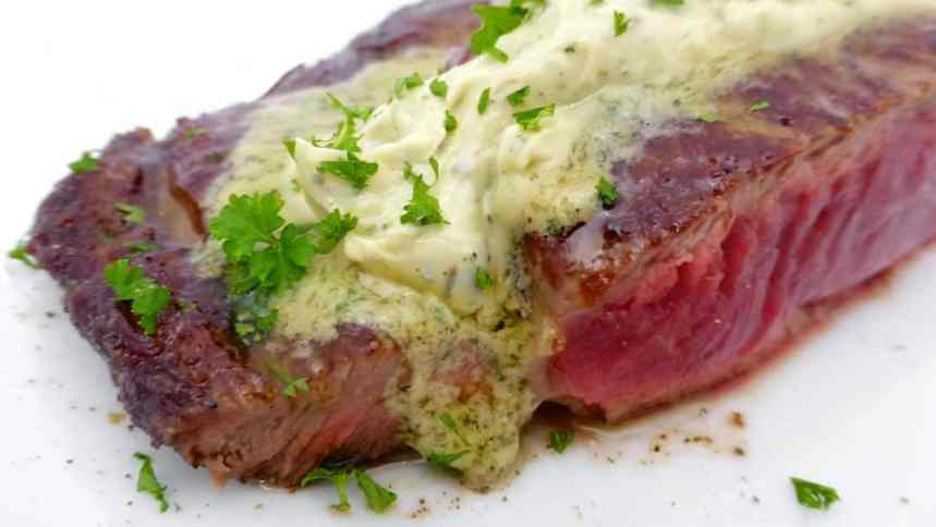 Homemade creamy anchovy butter recipe: learn how to make fresh anchovy at home! Great to put on top of a sizzling cooked steak!