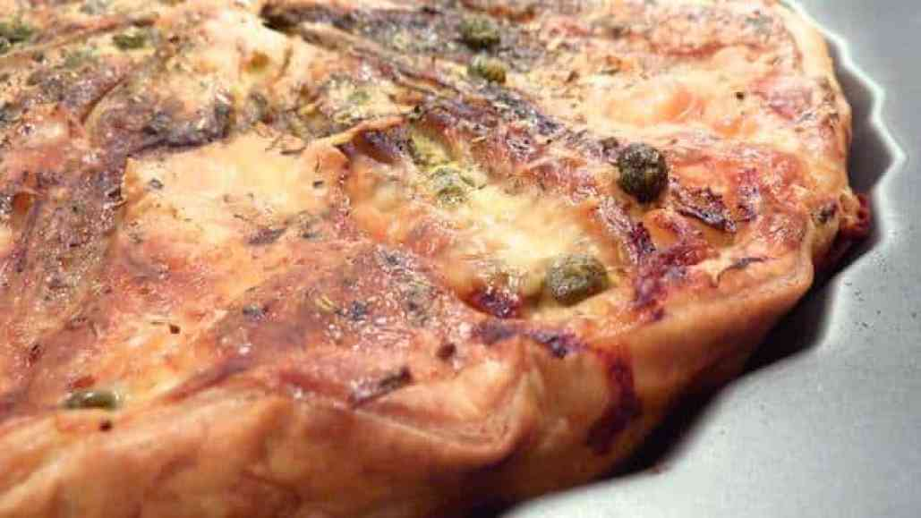 My delicious vegetarian quiche recipe with braised endives and a pungent strong French cheese... Ths is such a lovely lunch!