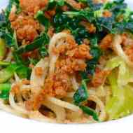Easy Walnut Pasta With Kale & Merguez