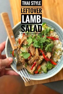 Easy Thai Leftover Lamb Salad Rice Bowls