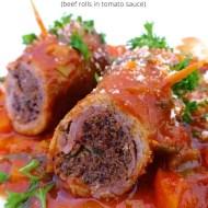 Easy Braciole di Manzo (Beef Rolls in Tomato Sauce)