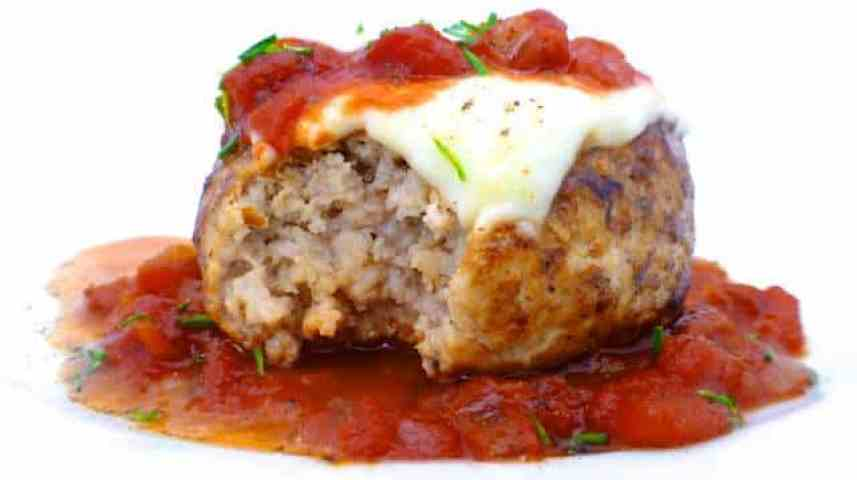I love veal parmigiana so how about veal burgers parmigiana with mozzarella in a homemade tomato sauce? Pepper, salt, dried herbs - keep it simple.