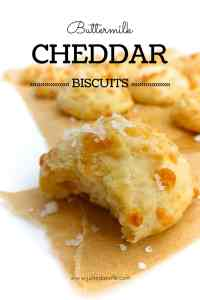 Buttermilk cheddar biscuits, a classic! Cheddar is a great cheese to cook or bake with. Use a strong one to bring out that nice cheesy flavor even more!