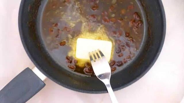 Solomillo al Pedro Ximenez, pork loin in a sweet and sour raisin sauce.
