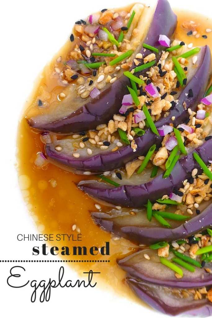My easy Chinese style steamed eggplant: silky smooth eggplant drenched a flavorful soy sauce marinade... Winner side dish!