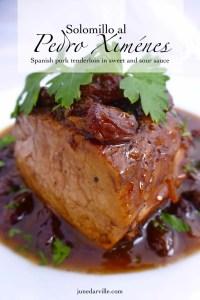 Solomillo al Pedro Ximenez, or pork tenderloin in a sweet reduction sauce with raisins... A delicious Spanish classic pork recipe!
