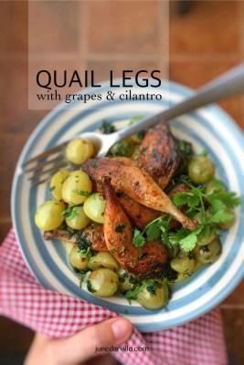 Best Quail with Grapes & Cilantro