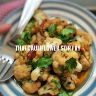 Easy Thai Cauliflower Stir Fry Recipe