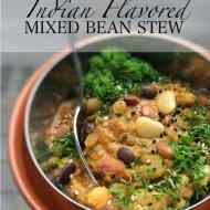 Easy Indian Flavored Mixed Bean Stew