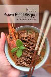 Do you throw away fresh prawn heads? See what a gorgeous creamy rustic prawn head soup you can make with it!