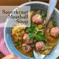 Sauerkraut Soup Recipe with Meatballs