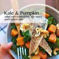Kale Salad Recipe with Pumpkin & Fish