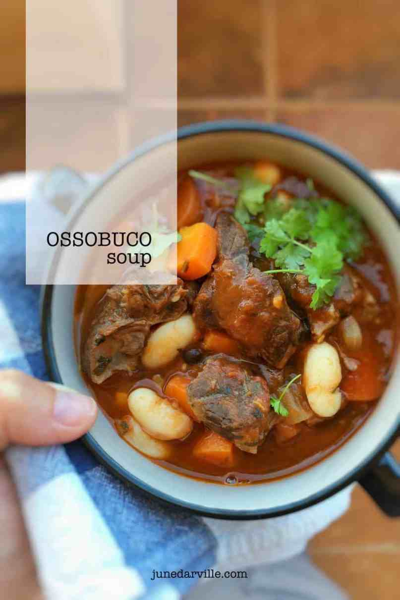 Leftover ossobuco stew in the fridge? Make this heartwarming leftover ossobuco soup the day after and enjoy this veal classic twice!