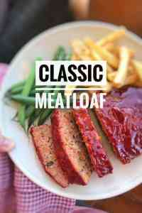 Here's how to make meatloaf, the classic way! Serve the meatloaf with ketchup, green beans and mashed potatoes or golden fries...