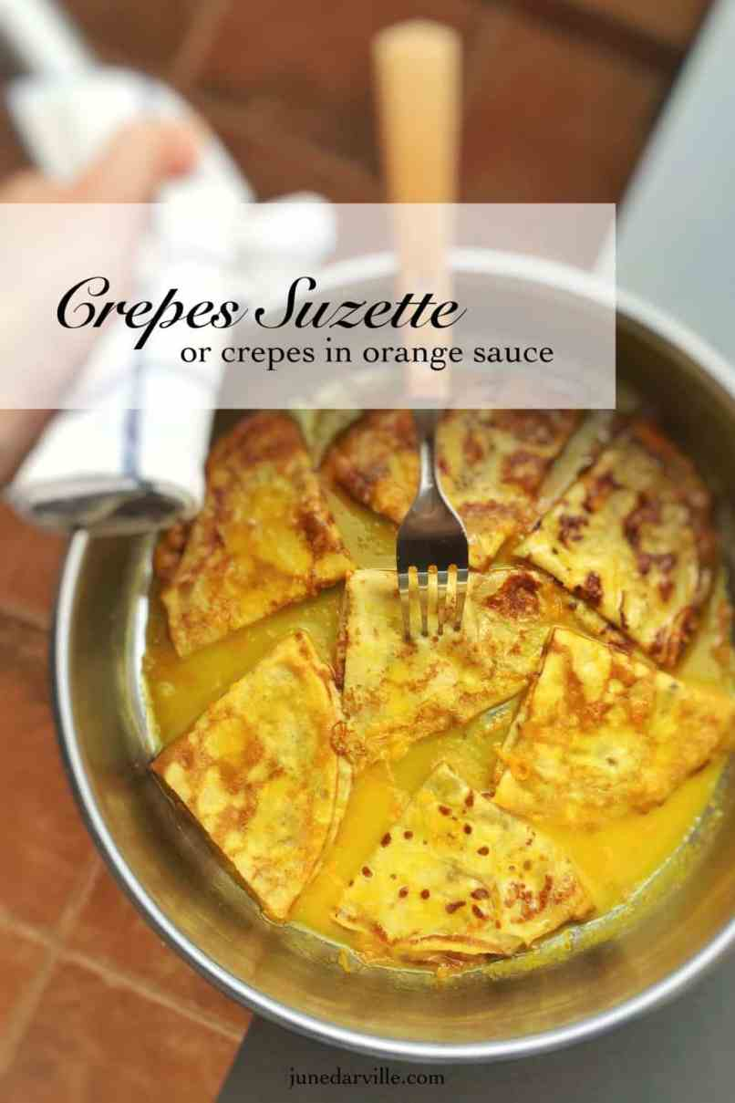 Homemade thin crepes in a sugary orange and Grand Marnier sauce... this crepes suzette recipe is a must try! You will love it...