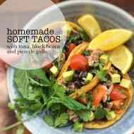 Easy Homemade Soft Tacos with Tuna & Pico de Gallo