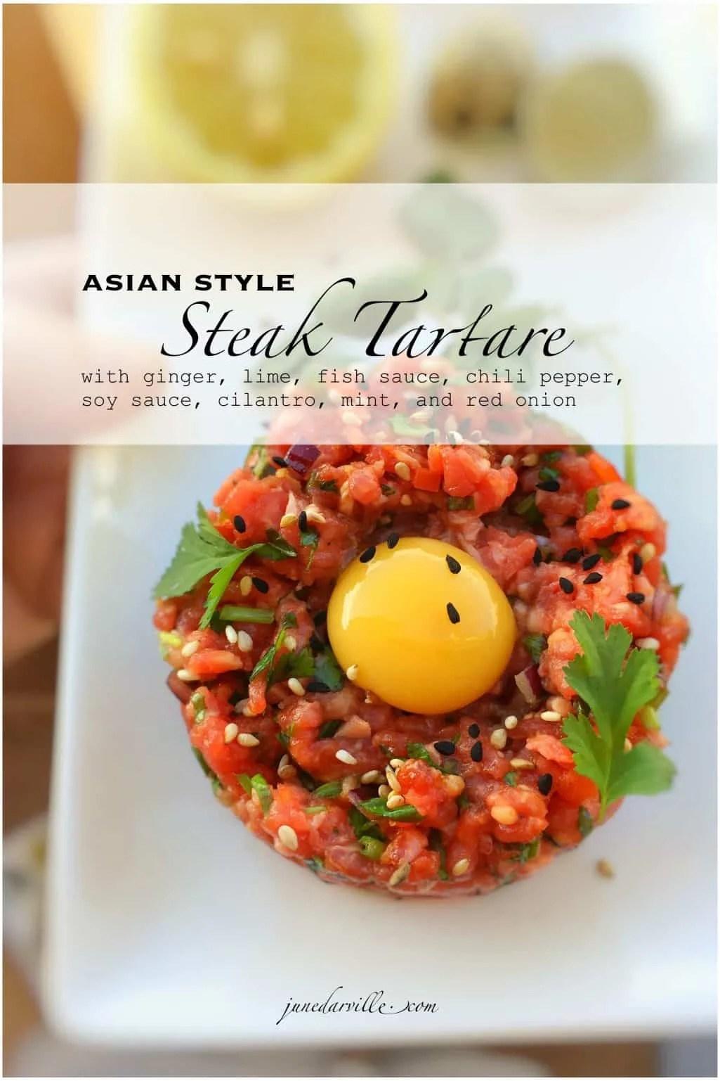 Asian Style Steak Tartare Recipe Simple Tasty Good