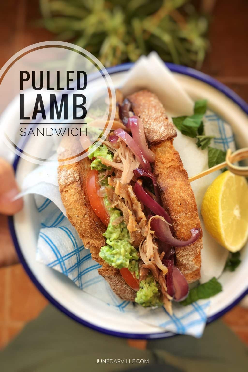 Got leftover lamb roast in the fridge? How about making a pulled lamb sandwich for lunch to give the cold lamb a second chance? Bingo!
