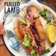 Best Pulled Lamb Sandwich & Mushy Peas