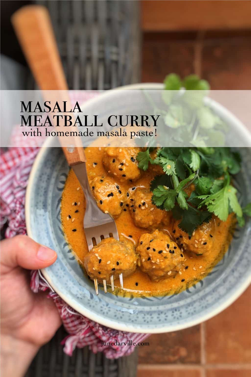 What's on the menu for dinner tonight? Let's make a creamy masala meatball curry using a bunch of fresh homemade masala paste!