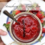 Strawberry Tomato Jam with Vanilla