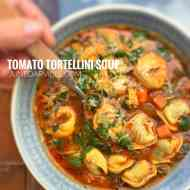 Easy Tortellini Soup Recipe with Tomatoes & Cheese