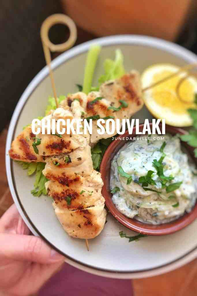 Let's make a Greek classic today! Easy grilled chicken souvlaki skewers with a fresh tzatziki yogurt sauce... what a great combination!