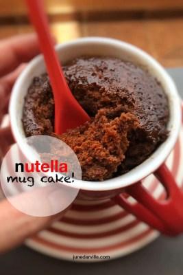 Best 3 Minute Nutella Mug Cake