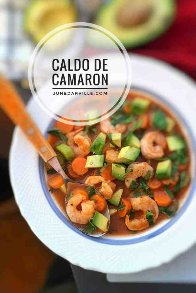 Have you heard of caldo de camaron before? It's a Mexican shrimp and tomato soup with vegetables. Sounds like a fine soup to me!