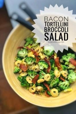 Easy Broccoli Salad with Bacon & Tortellini