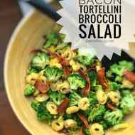 Easy Bacon Tortellini & Broccoli Salad