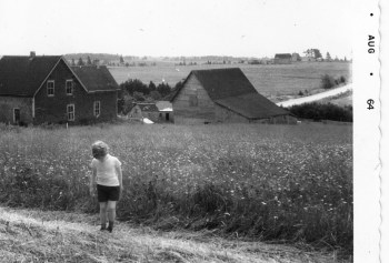 Pam on the farm in 1964