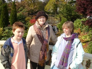 With Malcolm and Carol in the Public Gardens, Halifax