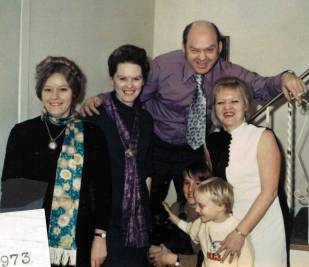 After their mother died in 1973. Shirley, June, Cecil and Helen Rose with her son Scott and stepdaughter Robin.