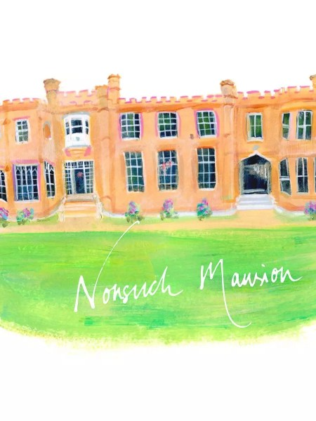 Illustration of Nonsuch Mansion, Cheam Sutton by June Sees