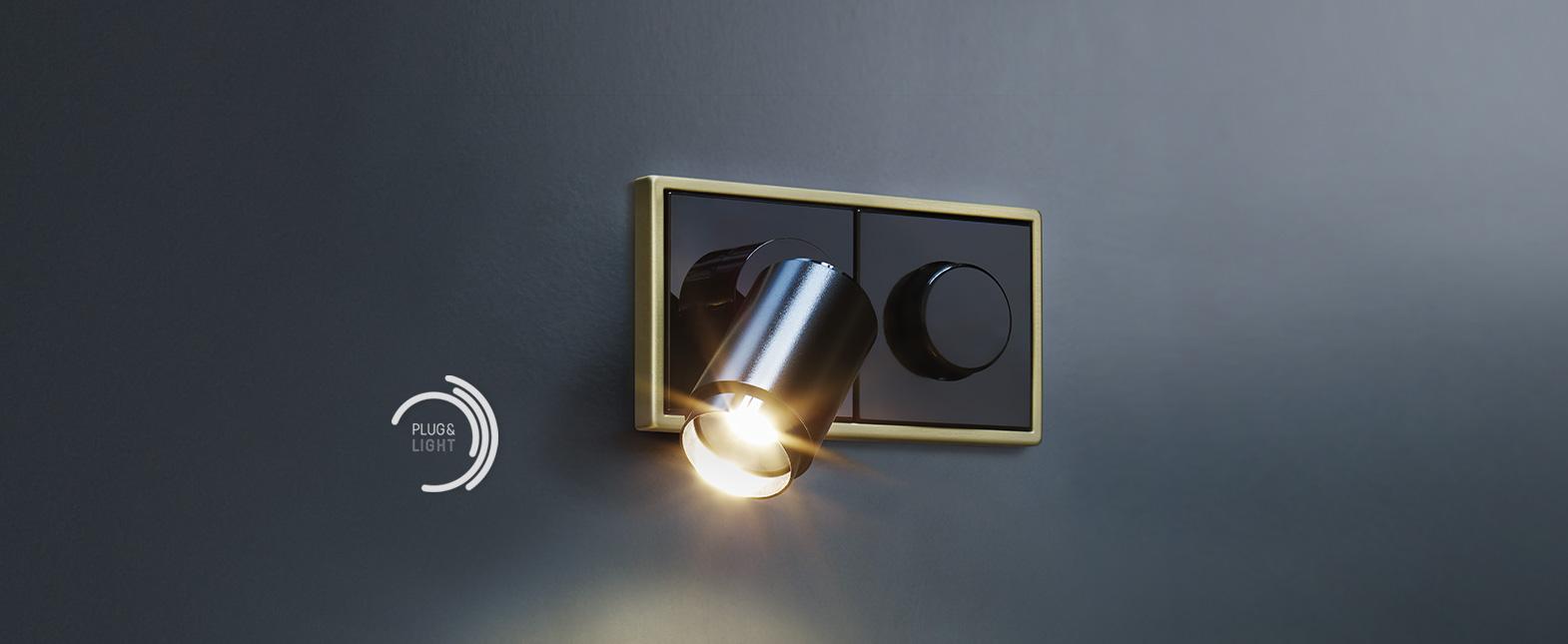 spotlight lichtsteckdose plug light