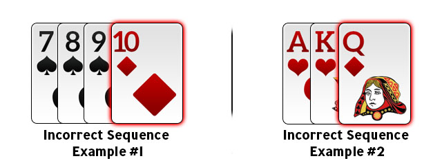 Incorrect Sequence in Rummy Example