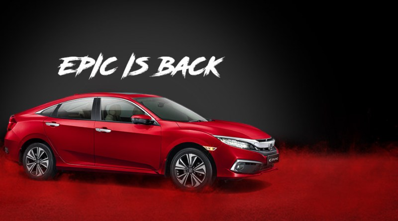 Honda Civic 2019. In red colour.