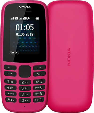 Nokia 105 in Pink Colour