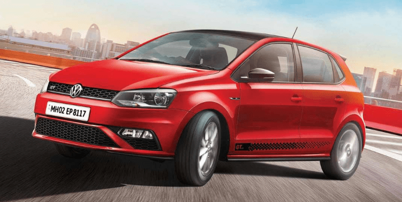 Volkswagen Polo 2019 in new flash red colour paint job