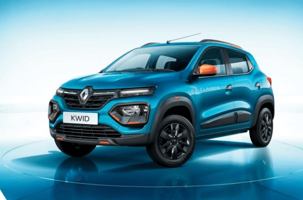 Renault Kwid facelift 2019 It is available in five different colours- Moonlight Silver, Fiery Red, Ice Cool White, Outback Bronze, and Electric Blue.