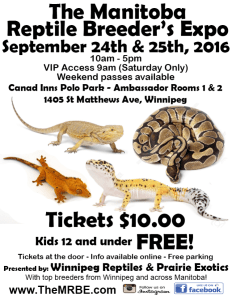 2016 fall Winnipeg Manitoba Reprile Breeders Expo MRBE
