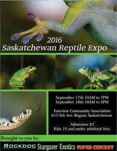 2016 Fall Saskatchewan Reptile Expo