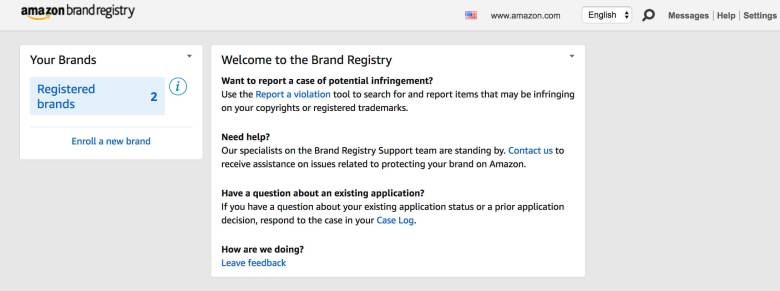 brand registry with amazon