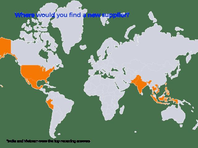 carte du monde des fournisseurs