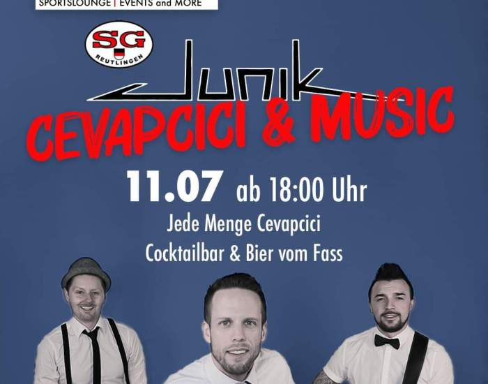 Flyer: Cevapcici & Music im Restaurant Split in Reutlingen.