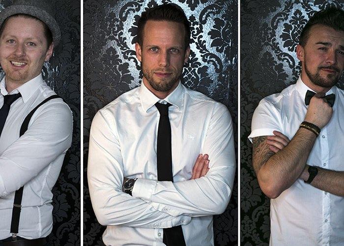 Die Band JUNIK: Pianoman Markus Sosnowski, Achim Beutler & André Kljajic