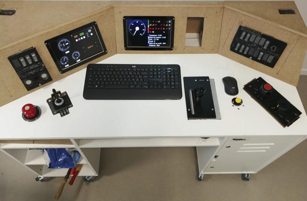 Photo du simulateur de TGV de guided ways