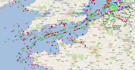 (émissions des navires JEPS) Cartes avec la route des navires grâce aux données AIS