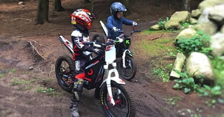 Trading tips on the riding. Another Trial friendship is cemented on the motorcycles
